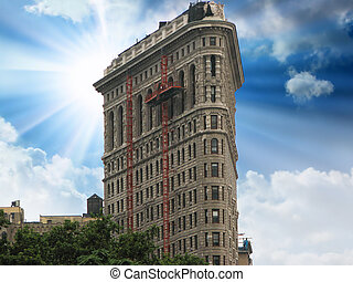Flat Iron building, One of the first skyscrapers in New York...