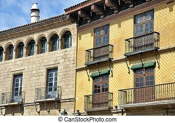 Poble Espanyol in Barcelona, Spain - Reconstruction of...