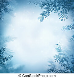 Inverno, fundo, festivo