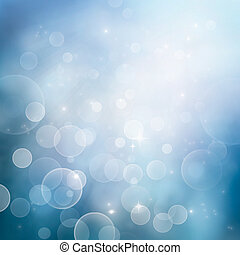 Bokeh winter Christmas holiday background