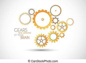 Concept mechanic Gear illustration.