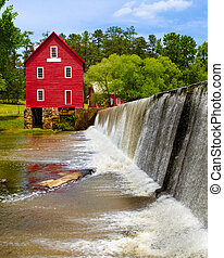 Starr's Mill near Atlanta, GA - Starr's Mill, a historic...