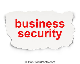 Protection concept: Business Security on Paper background