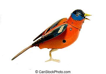 ANTIQUE MECHANICAL TIN BIRD - collectable, antique tin toys,...