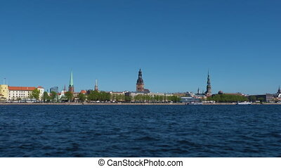 HD - Timelapse. Riga in summer - HD - Motion timelapse. Riga...