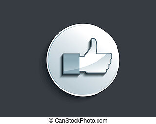 abstract glossy like button vector