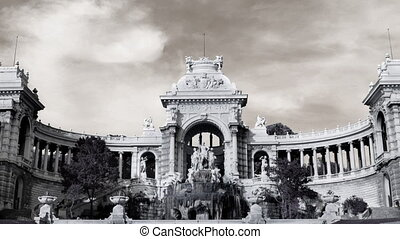 timelapse of palais longchamp, marseille
