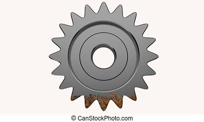 gear the engine various degrees of a deterioration in 3d