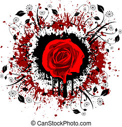 grunge rose - Rose on grunge style background