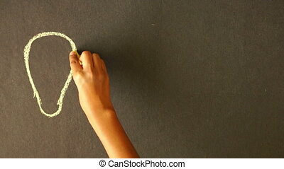 Money Making Chalk Drawing - A person drawing a Money Making...