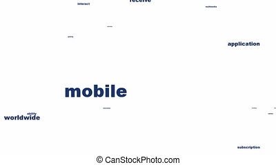 Mobile shopping symbol conceptual design. Online business...