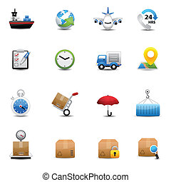 Logistic and Shipping icons - icons vector