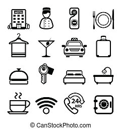 Hotel Icons set vector - icons vector