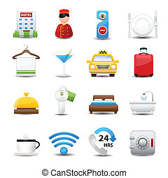 Hotel Icons set - icons vector