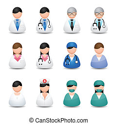 Medical people - icons vector