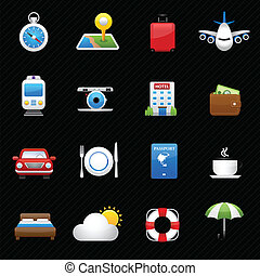 Travel and hotel icons vector - icons vector