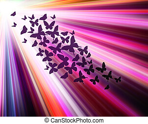 Multicolour background with butterflies, like abstract...