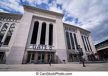 Shot of Yankee Stadium - Shot of outside of Yankee Stadium