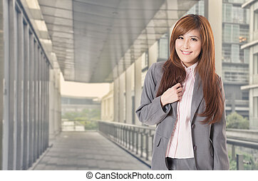 Smile Asian business woman - Smiling Asian business woman...