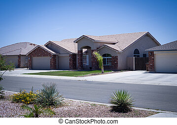 Shot of residential Arizona home