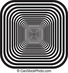 Rounded corners tunnel perspectibe background