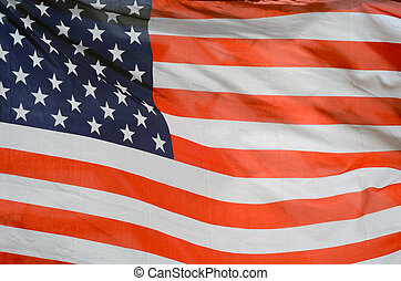 American Flag - Background Texture Of USA Stars And Stripes...