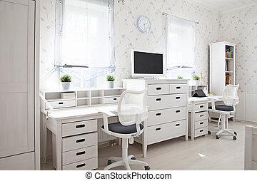 Kid's room - Modern interior of kid's room in sunlight