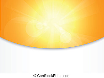 summer abstract background - Vector Illustration Of summer...