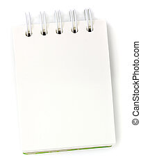 Blank one face white paper notebook