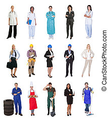 Professional workers, businessman, cooks, doctors, -...