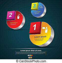 Vector 3d concept for project - vector business concepts /...