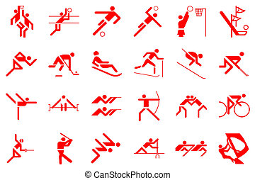 olympic games 24 sports illustration