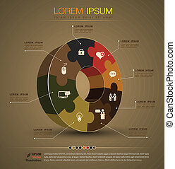 jigsaw Vector concept for project - vector business concepts...