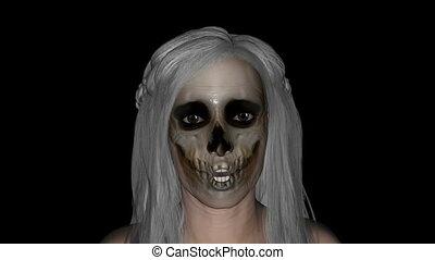 zombie, flicka