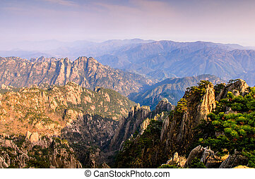 Huangshan Mountains - Huangshan in southern Anhui Province,...