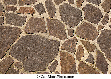 Stone Floor Background - An old brown stone floor makes an...