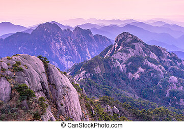 Huangshan Sunsets - Huangshan in southern Anhui Province,...