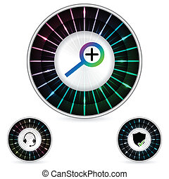 Abstract button design with plasma effect