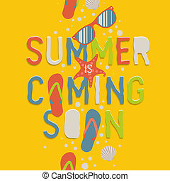 Summer coming soon, creative graphic background - Summer...