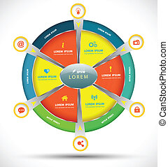 circle pie Vector business concept - vector business...