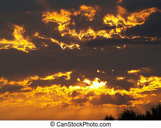 Fire in the Sky 4 - A golden sunrise gives way to a...