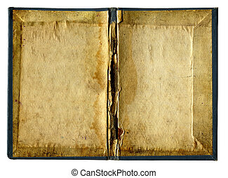 Empty Pages of Old book isolated - Vintage Folder Isolated...