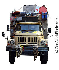 Old Expedition Truck - Isolation Of A Vintage Desert...