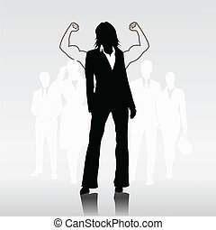 Sucessful woman team leader - Successful woman team leader...
