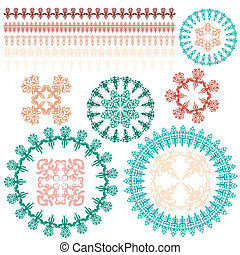 borders, brushes, decorative frames with ornaments