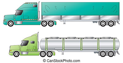 American conventional trucks & trailers side view