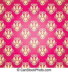 flower pattern in old style with a flourish