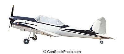 old classic plane isolated white background