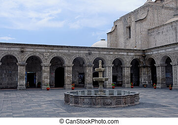 the cloister of Arequipa