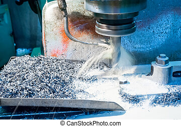 custom milled machine part made - A CNC milling machine...